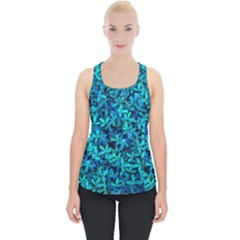 Teal Leafs Piece Up Tank Top by augustinet