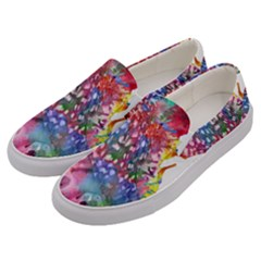 Rainbow Owl Men s Canvas Slip Ons by augustinet