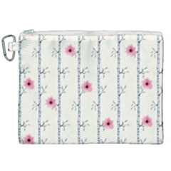 Minimalist Floral Canvas Cosmetic Bag (xxl) by augustinet