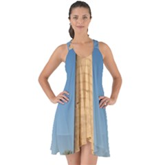 Temple Of Karnak Luxor Egypt  Show Some Back Chiffon Dress by StarvingArtisan
