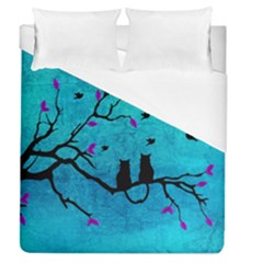 Lovecats Duvet Cover (queen Size) by augustinet