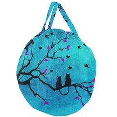 Lovecats Giant Round Zipper Tote by augustinet