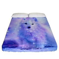 Arctic Iceland Fox Fitted Sheet (queen Size) by augustinet