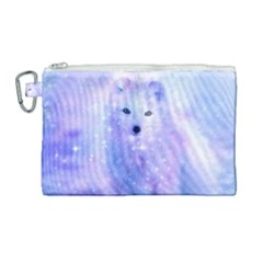 Arctic Iceland Fox Canvas Cosmetic Bag (large) by augustinet
