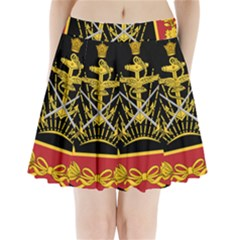 Logo Of Imperial Iranian Ministry Of War Pleated Mini Skirt by abbeyz71