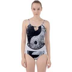 Grunge Yin Yang Cut Out Top Tankini Set