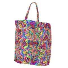 Colorful 12 Giant Grocery Zipper Tote