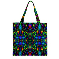Colorful 13 Zipper Grocery Tote Bag by ArtworkByPatrick