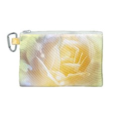 Beautiful Yellow Rose Canvas Cosmetic Bag (medium) by FantasyWorld7