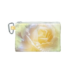 Beautiful Yellow Rose Canvas Cosmetic Bag (small) by FantasyWorld7