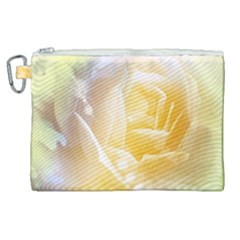Beautiful Yellow Rose Canvas Cosmetic Bag (xl) by FantasyWorld7