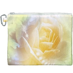 Beautiful Yellow Rose Canvas Cosmetic Bag (xxxl) by FantasyWorld7