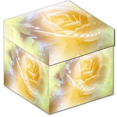 Beautiful Yellow Rose Storage Stool 12   by FantasyWorld7