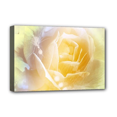 Beautiful Yellow Rose Deluxe Canvas 18  X 12   by FantasyWorld7