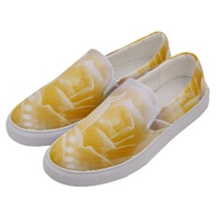 Beautiful Yellow Rose Men s Canvas Slip Ons by FantasyWorld7