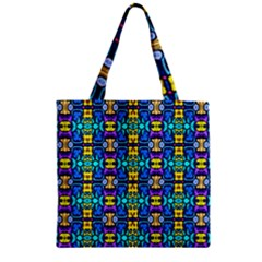 Colorful 14 Zipper Grocery Tote Bag by ArtworkByPatrick