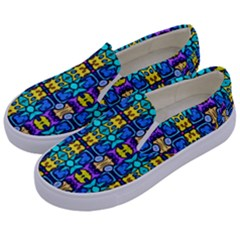 Colorful-14 Kids  Canvas Slip Ons by ArtworkByPatrick