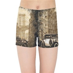 Vintage Old Car Kids Sports Shorts