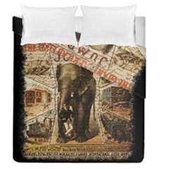 Vintage Circus  Duvet Cover Double Side (queen Size)