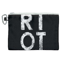 Riot Canvas Cosmetic Bag (xl) by Valentinaart