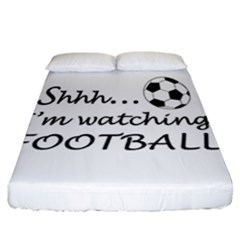 Football Fan  Fitted Sheet (california King Size) by Valentinaart