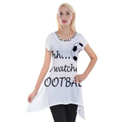 Football Fan  Short Sleeve Side Drop Tunic
