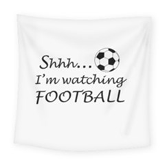 Football Fan  Square Tapestry (large) by Valentinaart