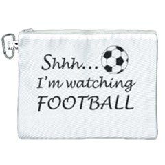 Football Fan  Canvas Cosmetic Bag (xxl) by Valentinaart