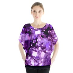 Purple Batwing Chiffon Blouse by ChihuahuaShower