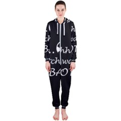 Football Fan  Hooded Jumpsuit (ladies)
