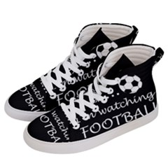 Football Fan  Men s Hi Top Skate Sneakers by Valentinaart