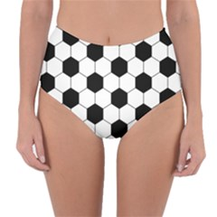 Football Reversible High Waist Bikini Bottoms