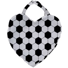 Football Giant Heart Shaped Tote by Valentinaart