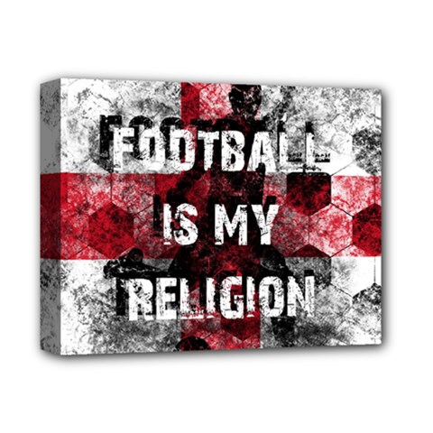 Football Is My Religion Deluxe Canvas 14  X 11