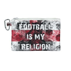 Football Is My Religion Canvas Cosmetic Bag (medium) by Valentinaart