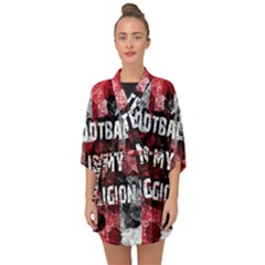 Football Is My Religion Half Sleeve Chiffon Kimono
