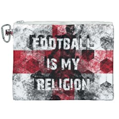 Football Is My Religion Canvas Cosmetic Bag (xxl) by Valentinaart