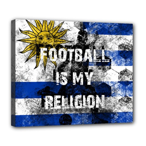 Football Is My Religion Deluxe Canvas 24  X 20   by Valentinaart