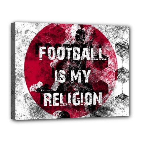 Football Is My Religion Canvas 14  X 11