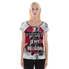 Football Is My Religion Cap Sleeve Tops