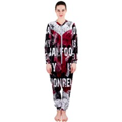 Football Is My Religion Onepiece Jumpsuit (ladies)  by Valentinaart
