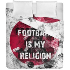 Football Is My Religion Duvet Cover Double Side (california King Size) by Valentinaart
