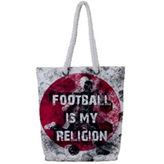 Football Is My Religion Full Print Rope Handle Tote (small) by Valentinaart