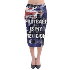 Football Is My Religion Midi Pencil Skirt by Valentinaart