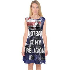 Football Is My Religion Capsleeve Midi Dress by Valentinaart
