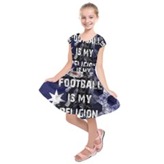 Football Is My Religion Kids  Short Sleeve Dress by Valentinaart