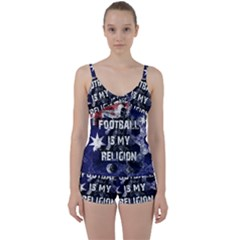 Football Is My Religion Tie Front Two Piece Tankini