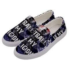 Football Is My Religion Men s Canvas Slip Ons by Valentinaart