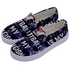 Football Is My Religion Kids  Canvas Slip Ons by Valentinaart