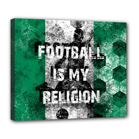 Football Is My Religion Deluxe Canvas 24  X 20